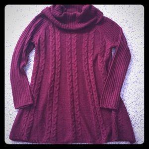 Sweaters - Burgundy sweater dress/tunic